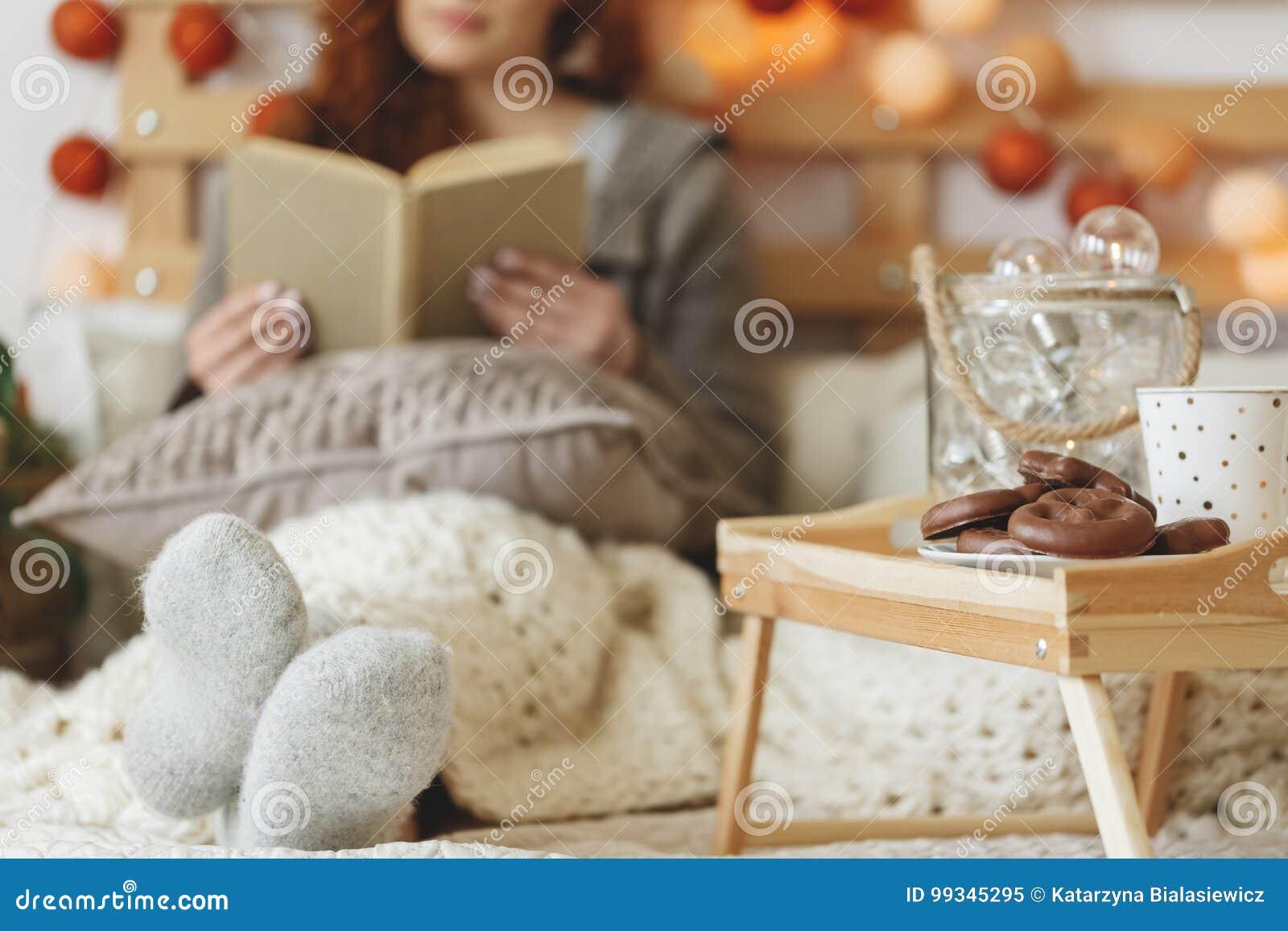 Cookies e chá do pão-de-espécie