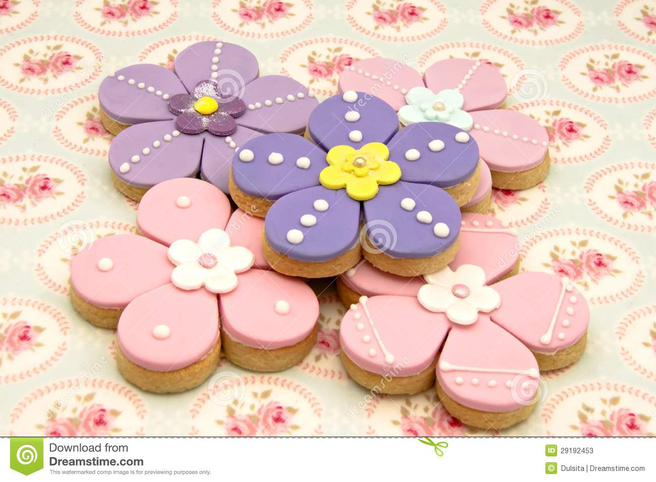 Cookies Flowers Stock Image Image Of Spring Sweet Color 29192453