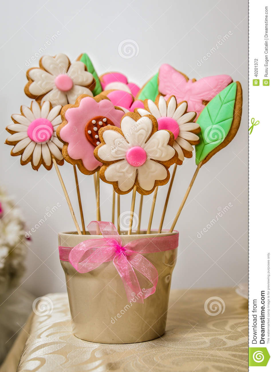 Cookies flowers candy bouquet stock photo image of pink aromatic cookies flowers candy bouquet izmirmasajfo