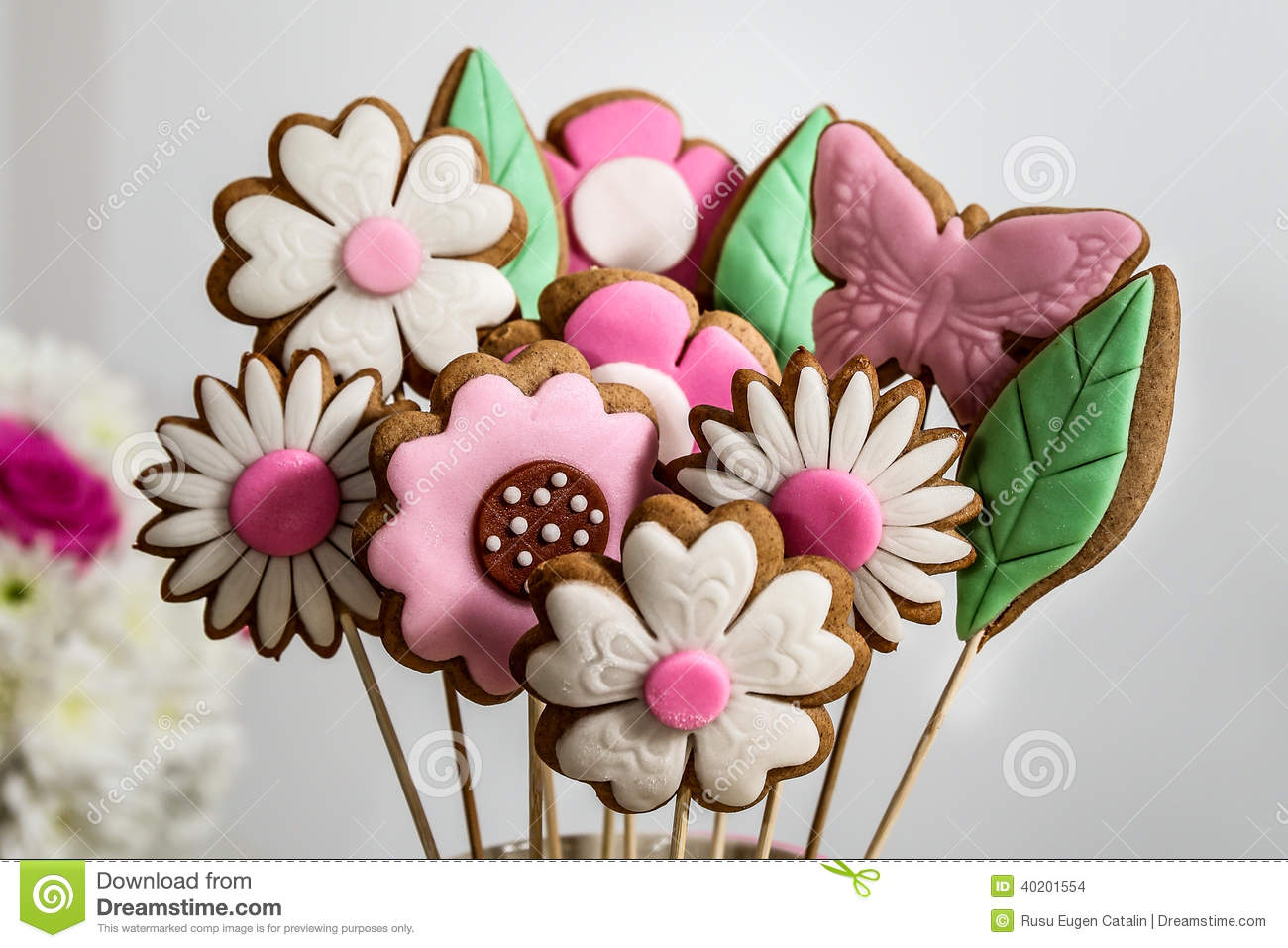 Cookies flowers candy bouquet stock photo image of flowers party cookies flowers candy bouquet izmirmasajfo