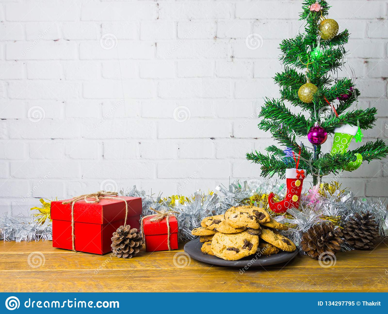 Cookies And Gift Boxes For Christmas Stock Image Image Of Cookie