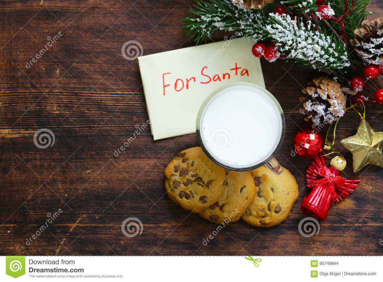 Cookies and a glass of milk for Santa