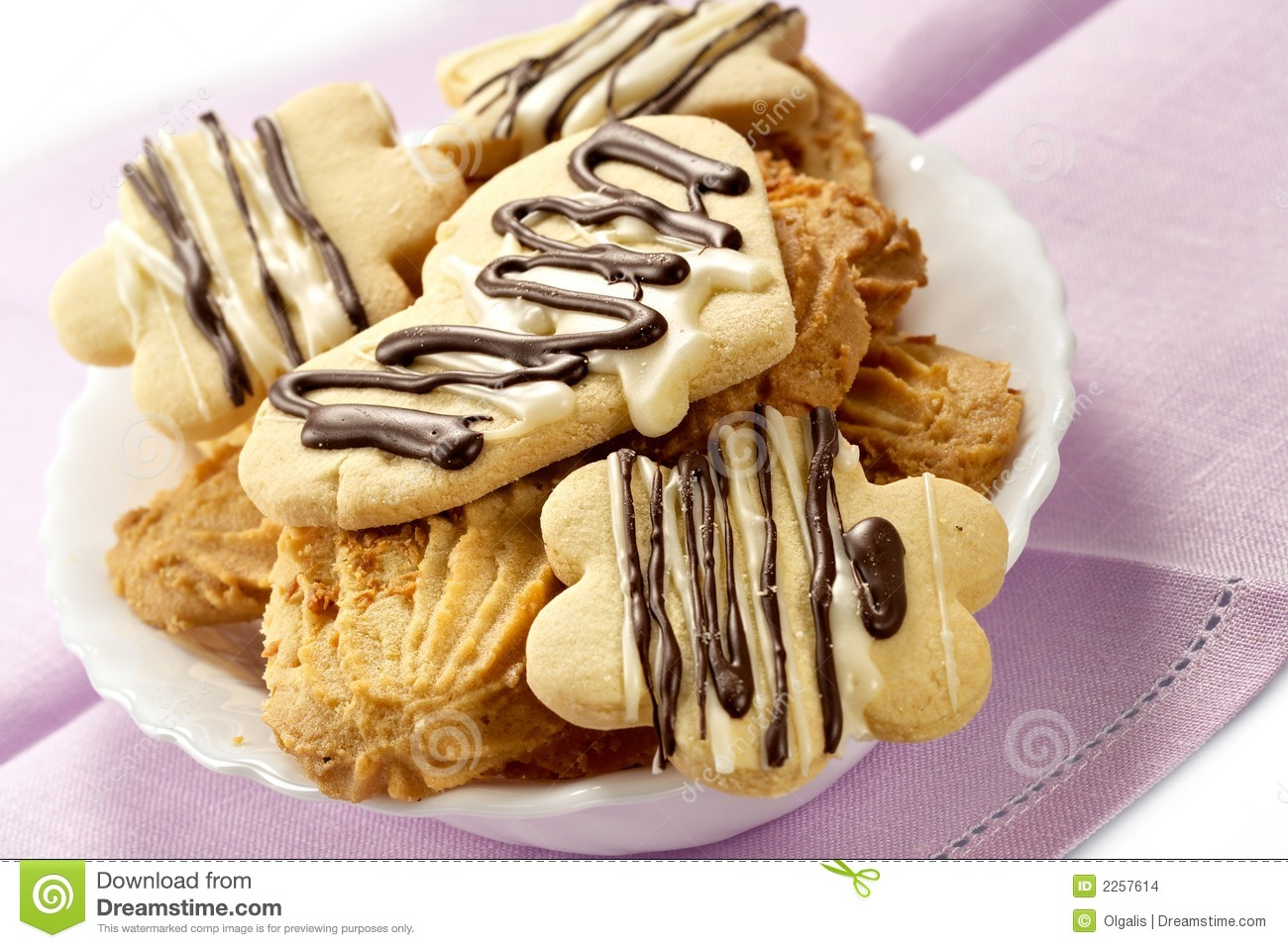 Cookies Glazed By Chocolate Stock Images - Image: 2257614