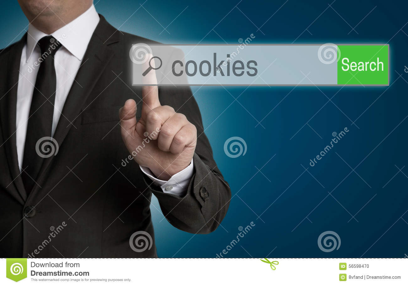 Cookies internet browser is operated by businessman