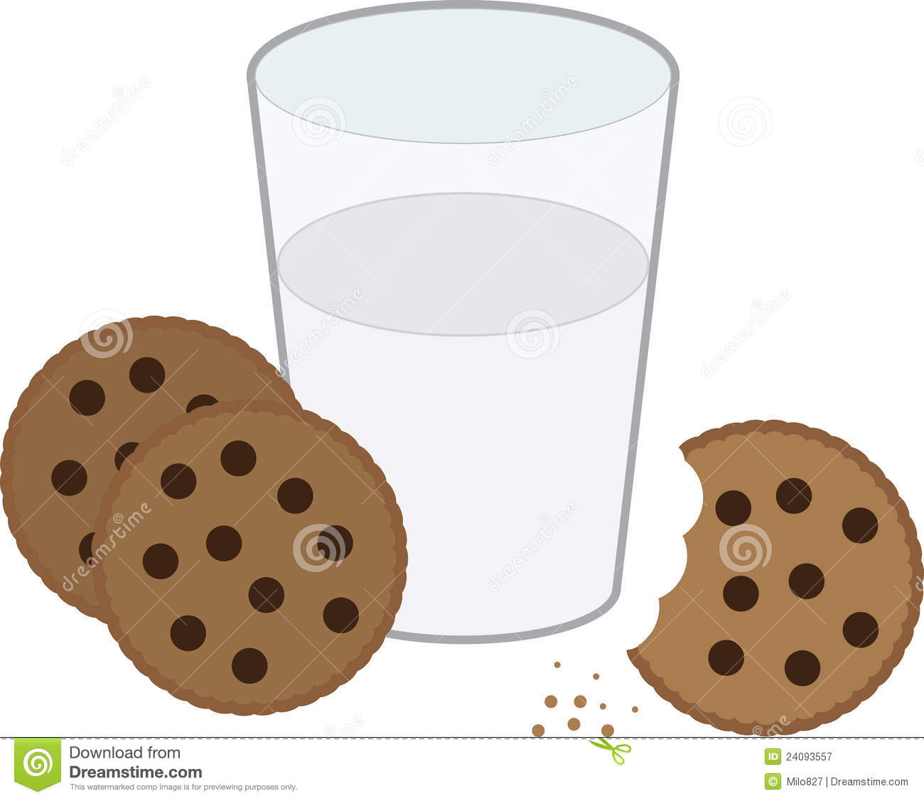 Cookies And Milk Royalty Free Stock Photography - Image: 24093557