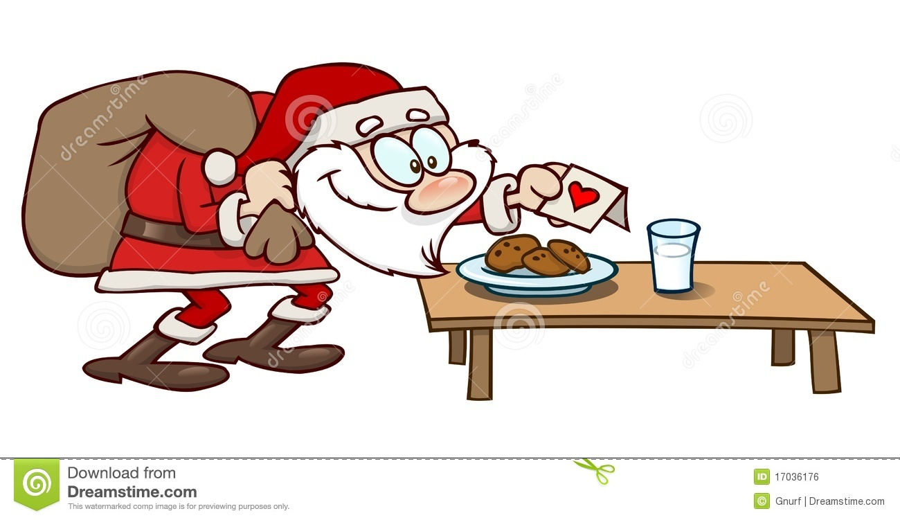 Cookies And Milk For Santa Stock Vector Illustration Of Claus