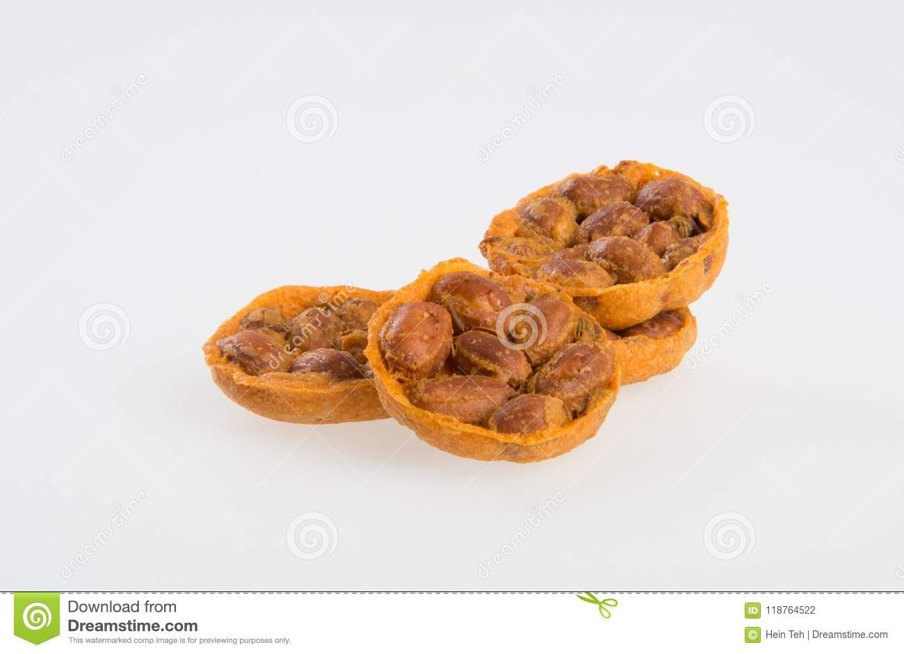 Cookies Or Peanut Cracker On Background  Stock Photo - Image