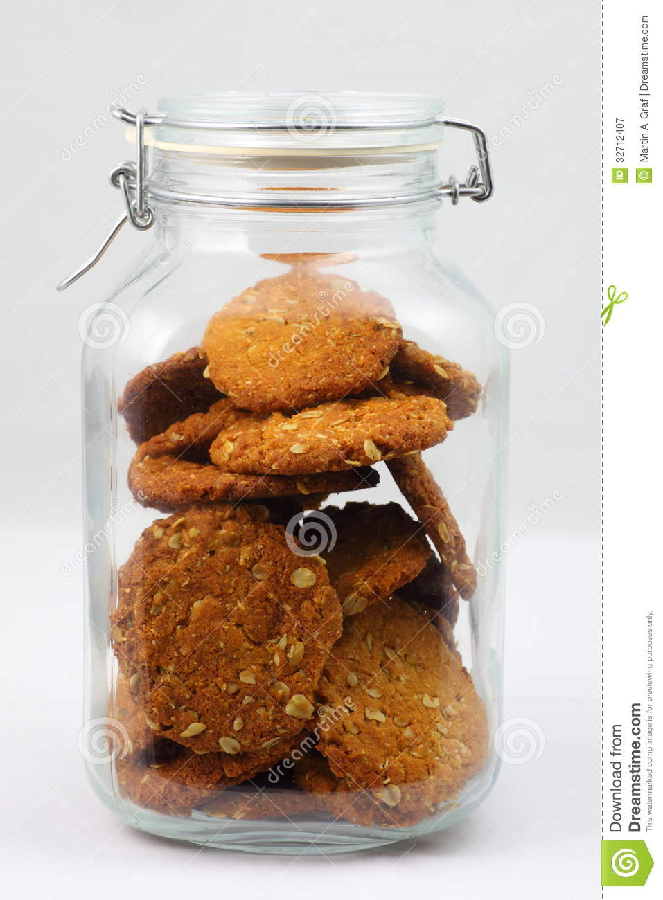 Anzac Biscuits In Glass Jar Stock Image Image 32712407