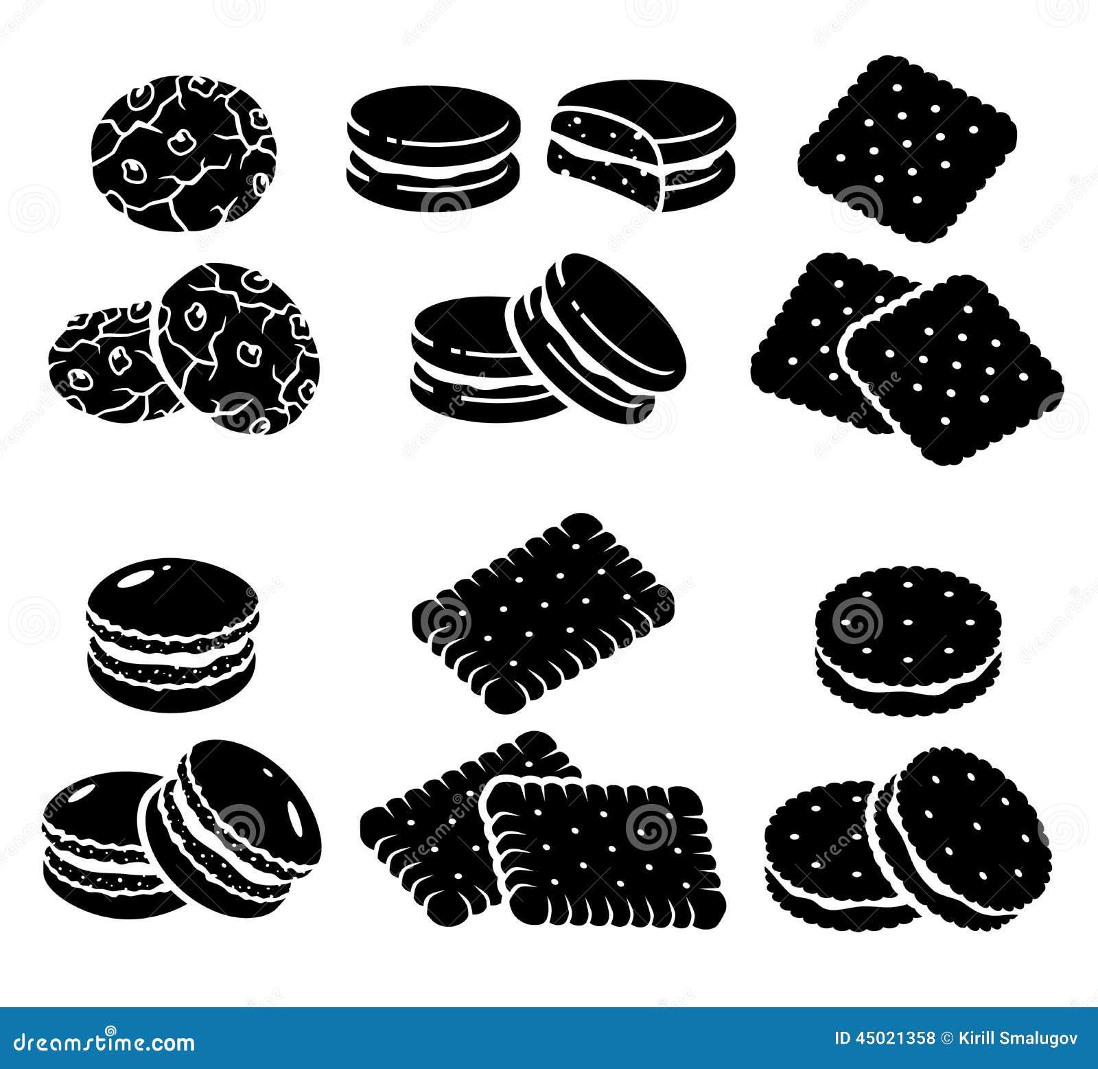 cookies set vector stock vector image of calories round