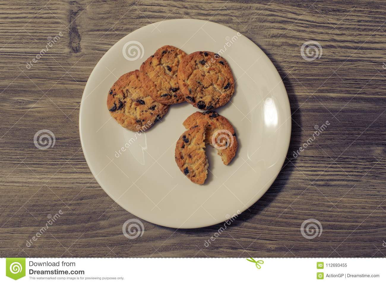 Cookies sweets candies cook bake bakery pastry homemade chocolate bite snack chil eating concept. Top above overhead close up view