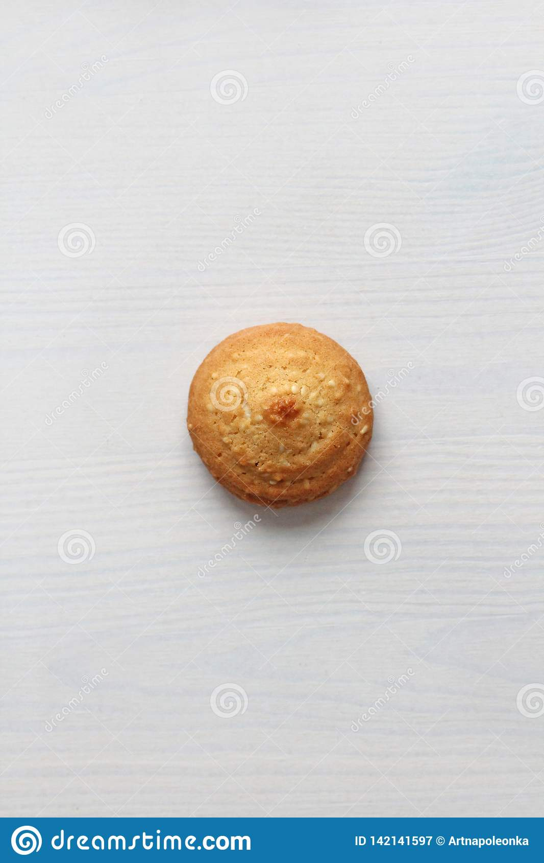 Cookies on a white background, similar to female nipples. nipples in the form of cookies. Humor, double meaning