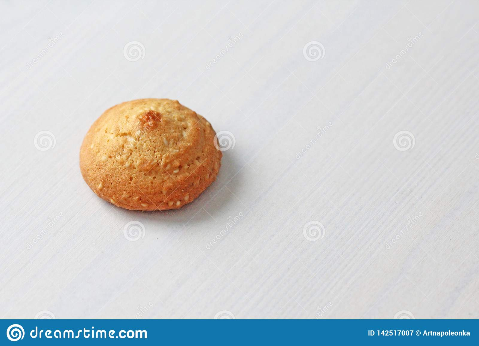 Cookies on a white background, similar to female nipples. Sexy nipples in the form of cookies. Humor, double meaning