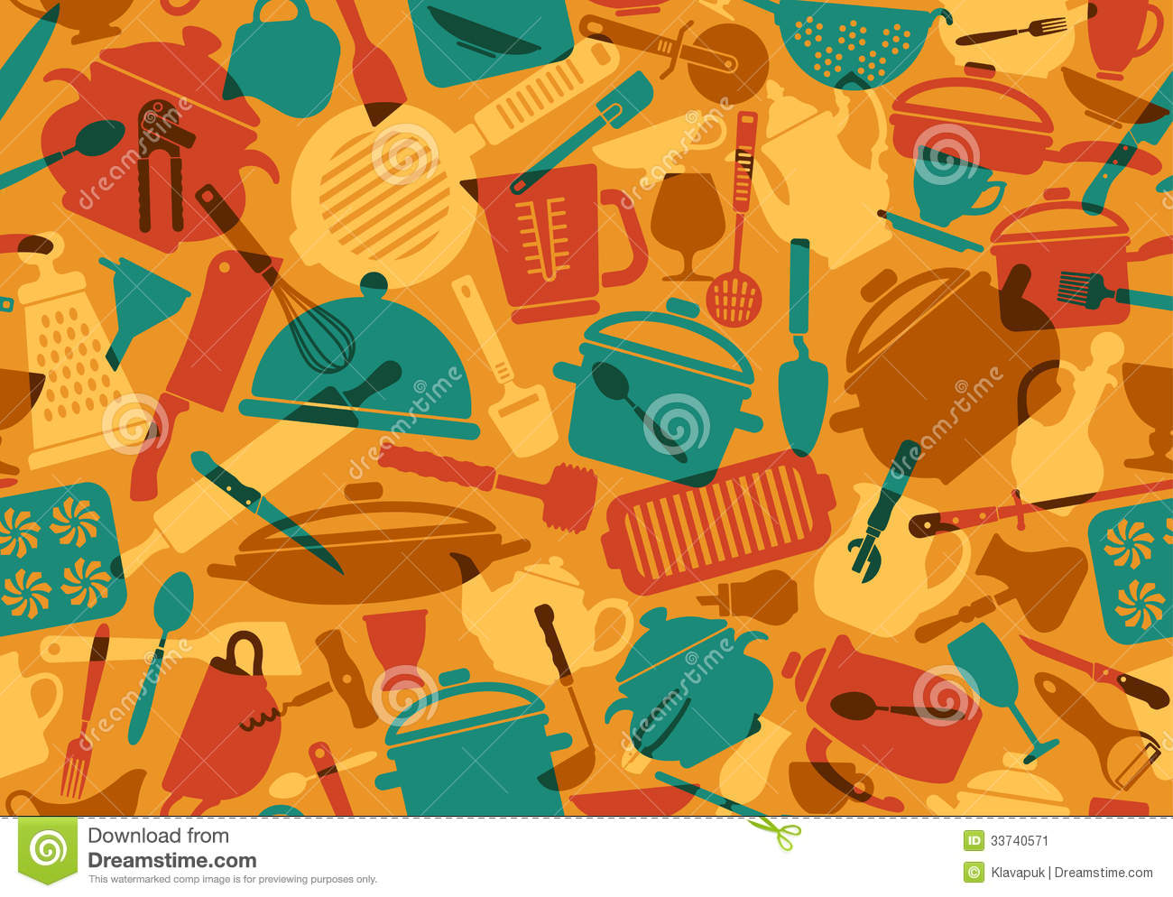 Kitchen utensils clip art pan - Cooking Background Stock Image Image 33740571