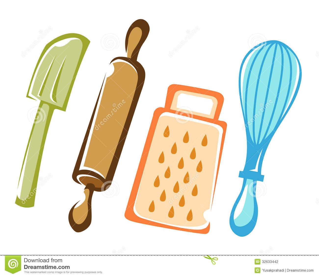 Cooking and baking kitchen tools stock photo image of for Kitchen design utensils