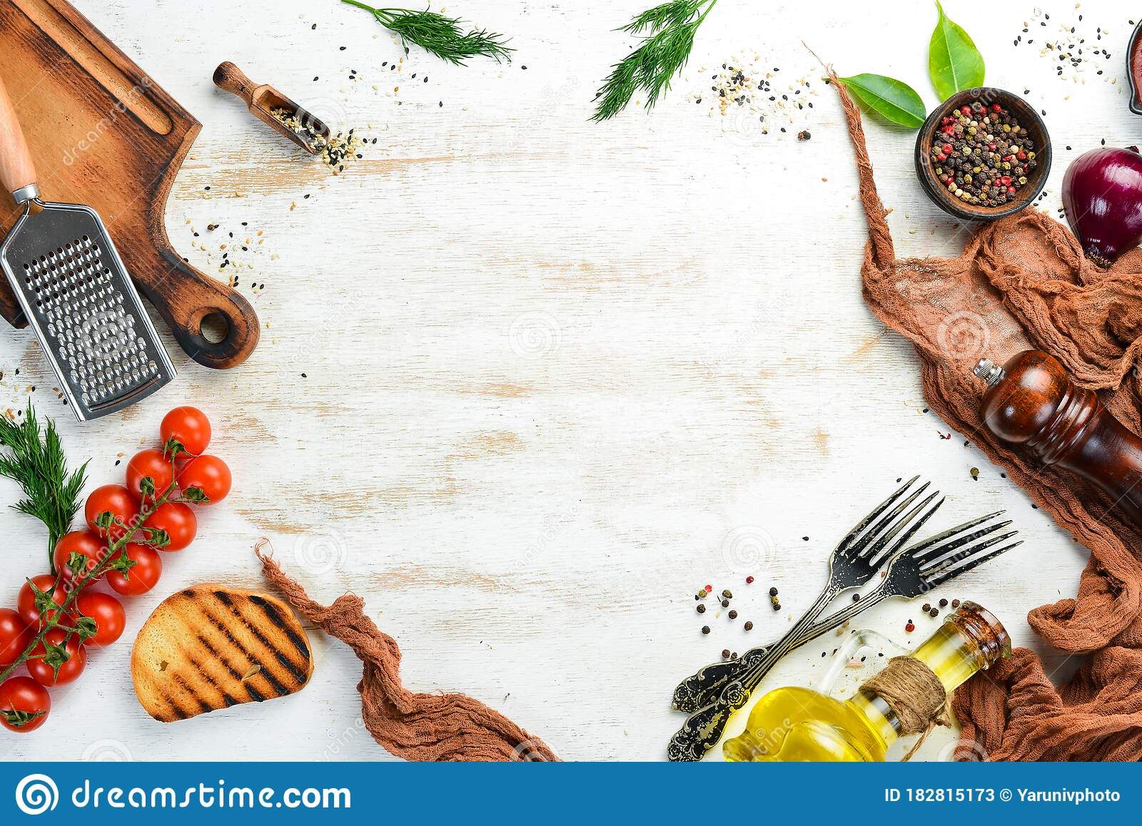Cooking Banner Vegetables And Spices On A White Background Free Space For Your Text Stock Image Image Of Plant Fresh 182815173