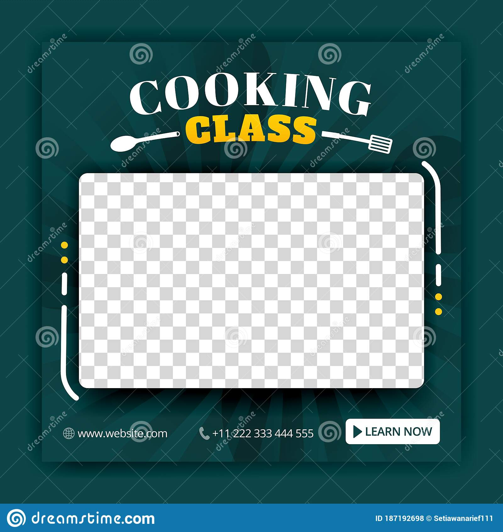 Cooking Class Flyer Template from thumbs.dreamstime.com