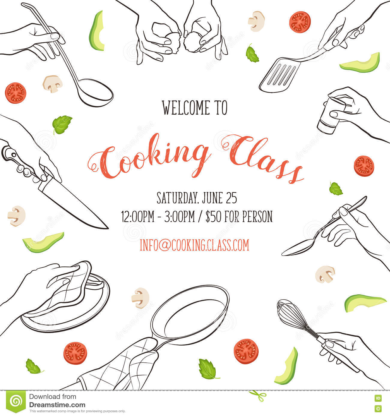 Cooking Certificate Template Delectable Cooking Class Template Stock Vectorillustration Of Restaurant .