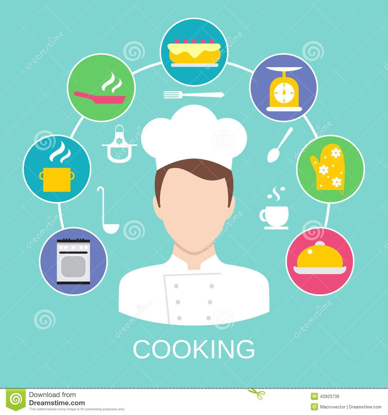 Cooking Concept Poster Print Stock Vector Image 42923739