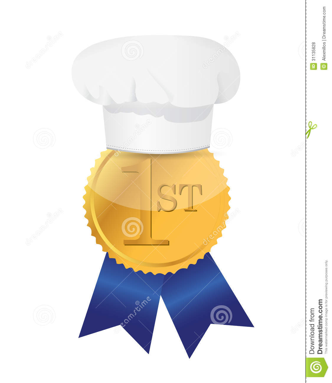 Cooking Contest 1st Place Winner Ribbon Royalty Free Stock