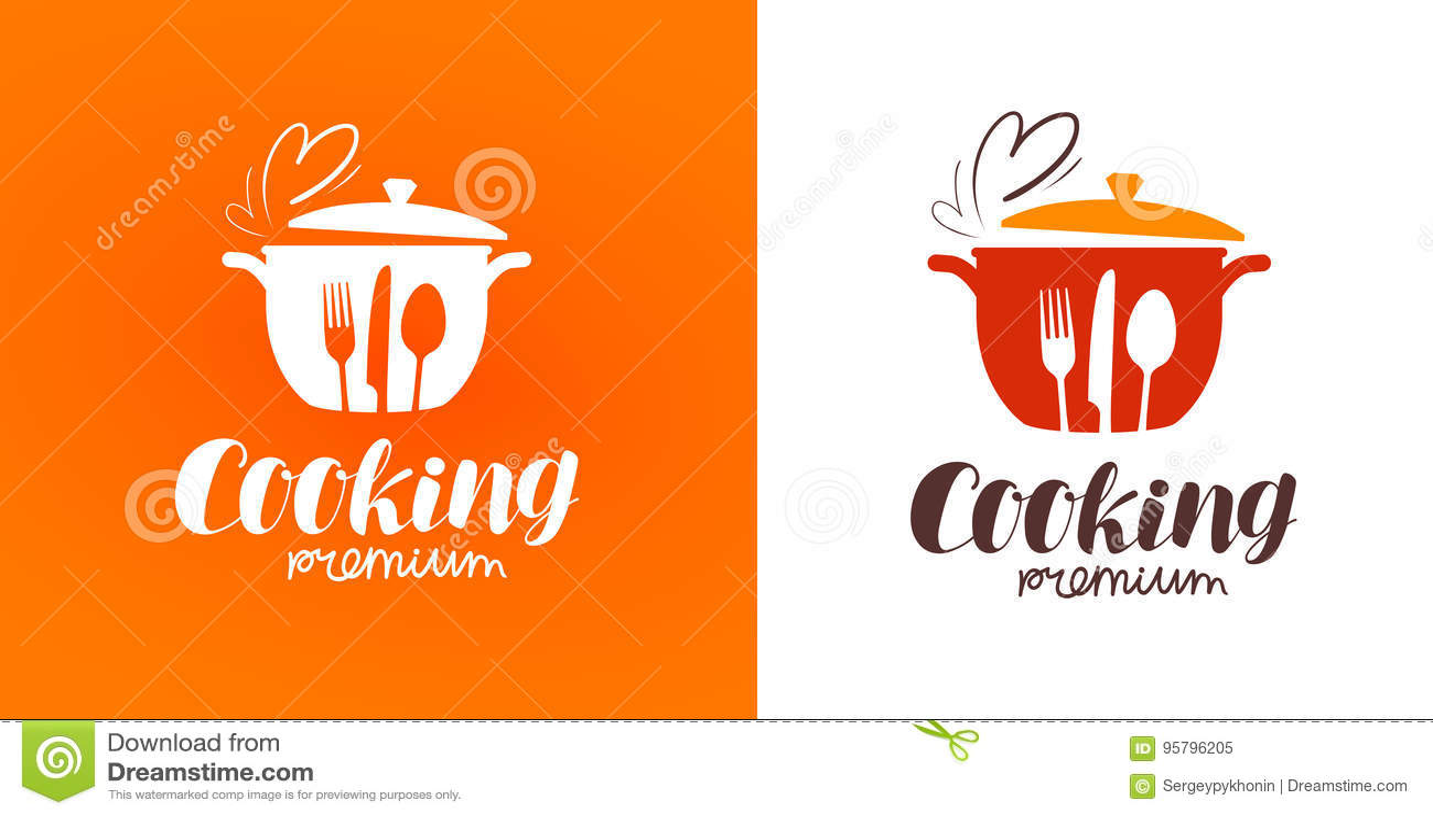 Cooking, cuisine, cookery logo. Restaurant, menu, cafe, diner label or icon. Vector illustration
