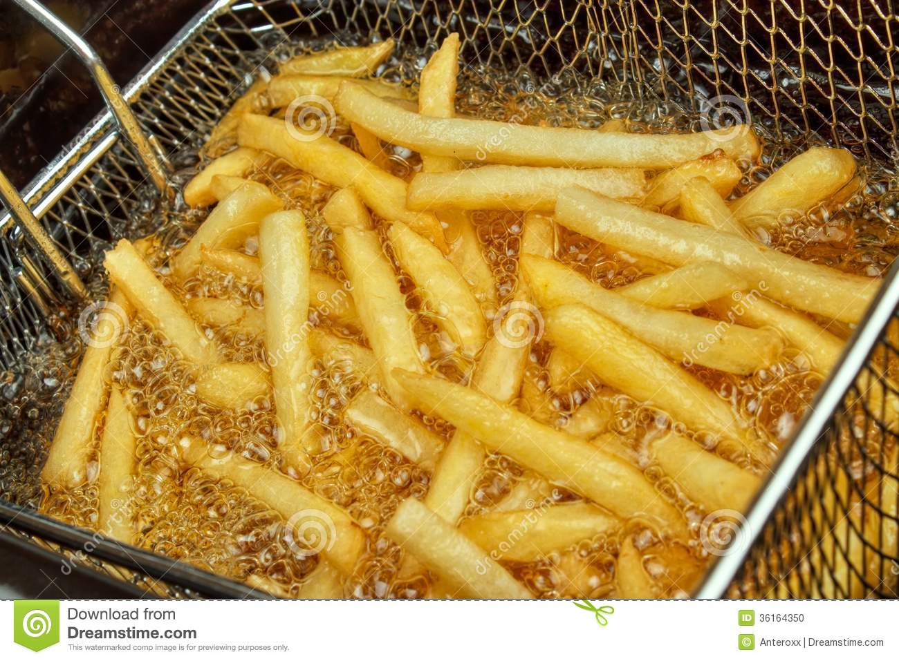 Cooking Fries Stock Photo - Image: 36164350