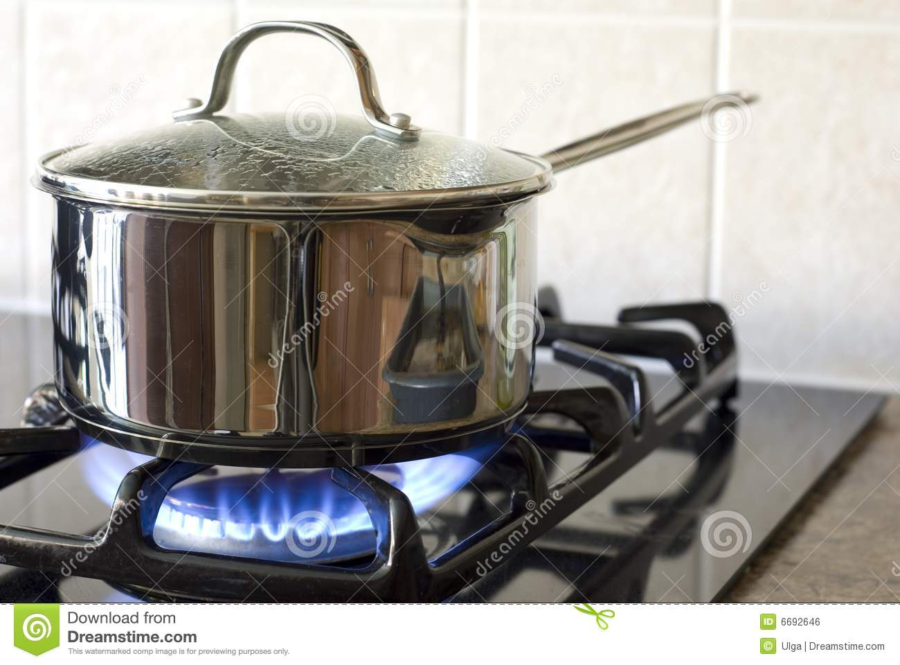 Cooking On A Gas Stove Royalty Free Stock Image Image