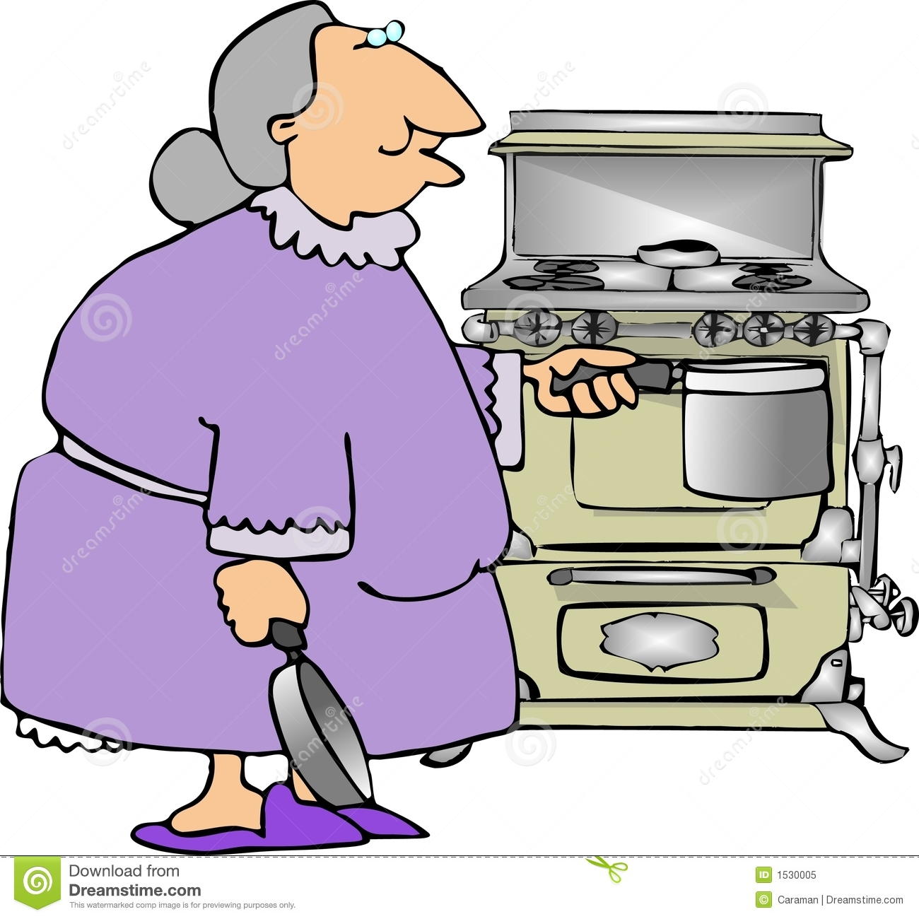 Cooking with Grandma stock illustration. Illustration of ...