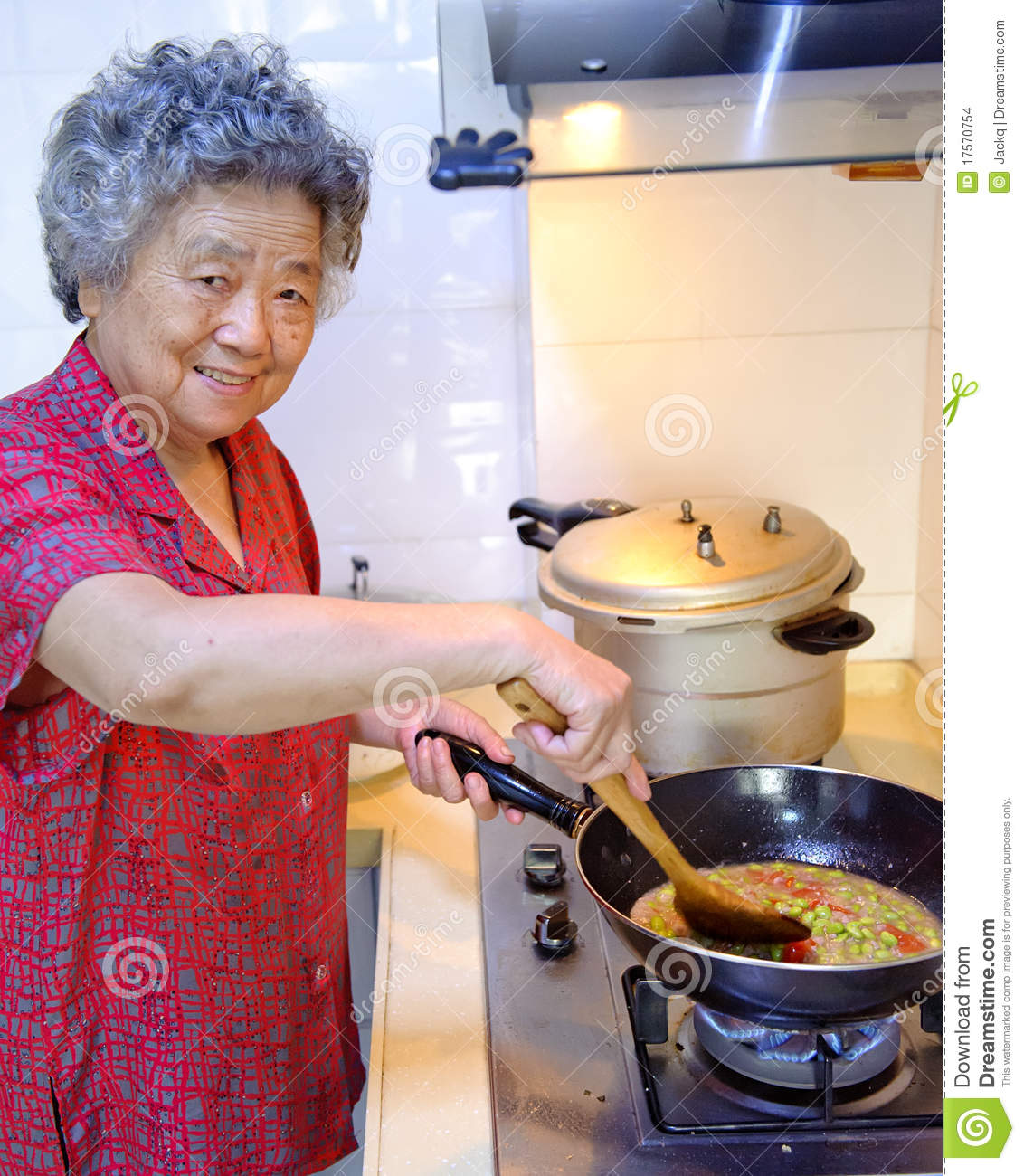 Cooking Grandmother Stock Images Image 17570754