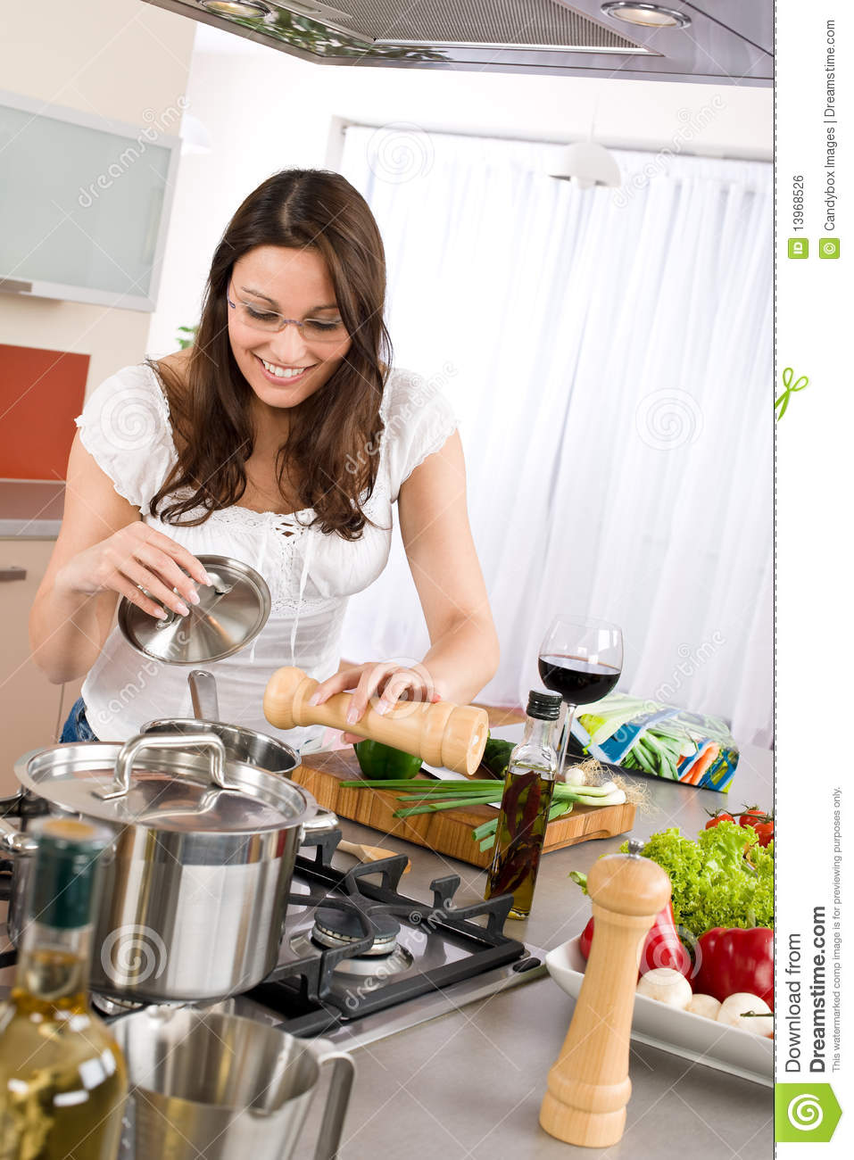 cooking-happy-woman-cook-modern-kitchen-