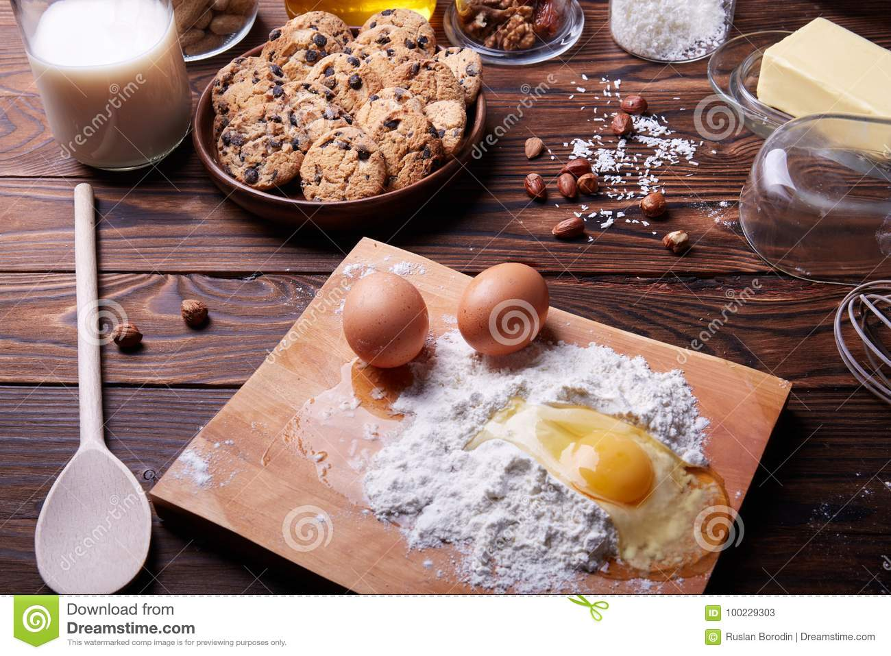 Cooking at home concpet healhty food wooden flour stock image royalty free stock photo forumfinder Choice Image