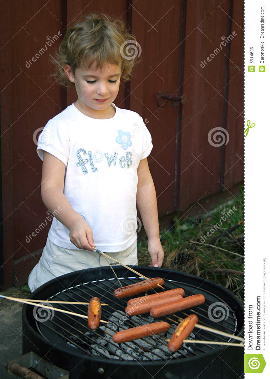 Cooking Hot Dogs Royalty Free Stock Image - Image: 6514606