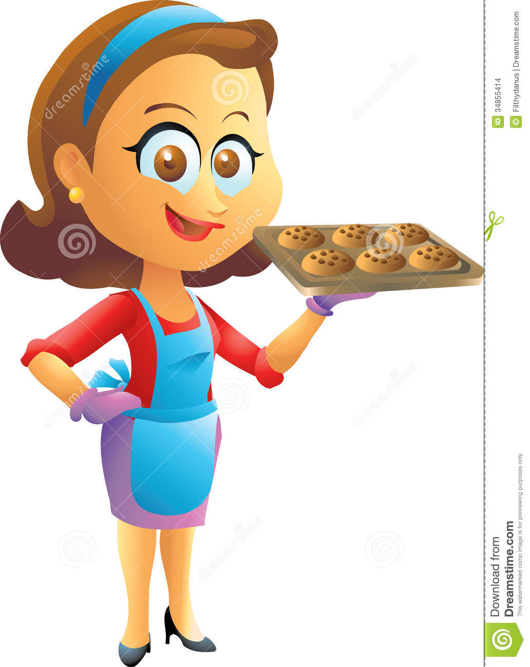 Stock Images Cooking Housewife Smiling Isolated Illustration Image34855414 on Asian House Plans