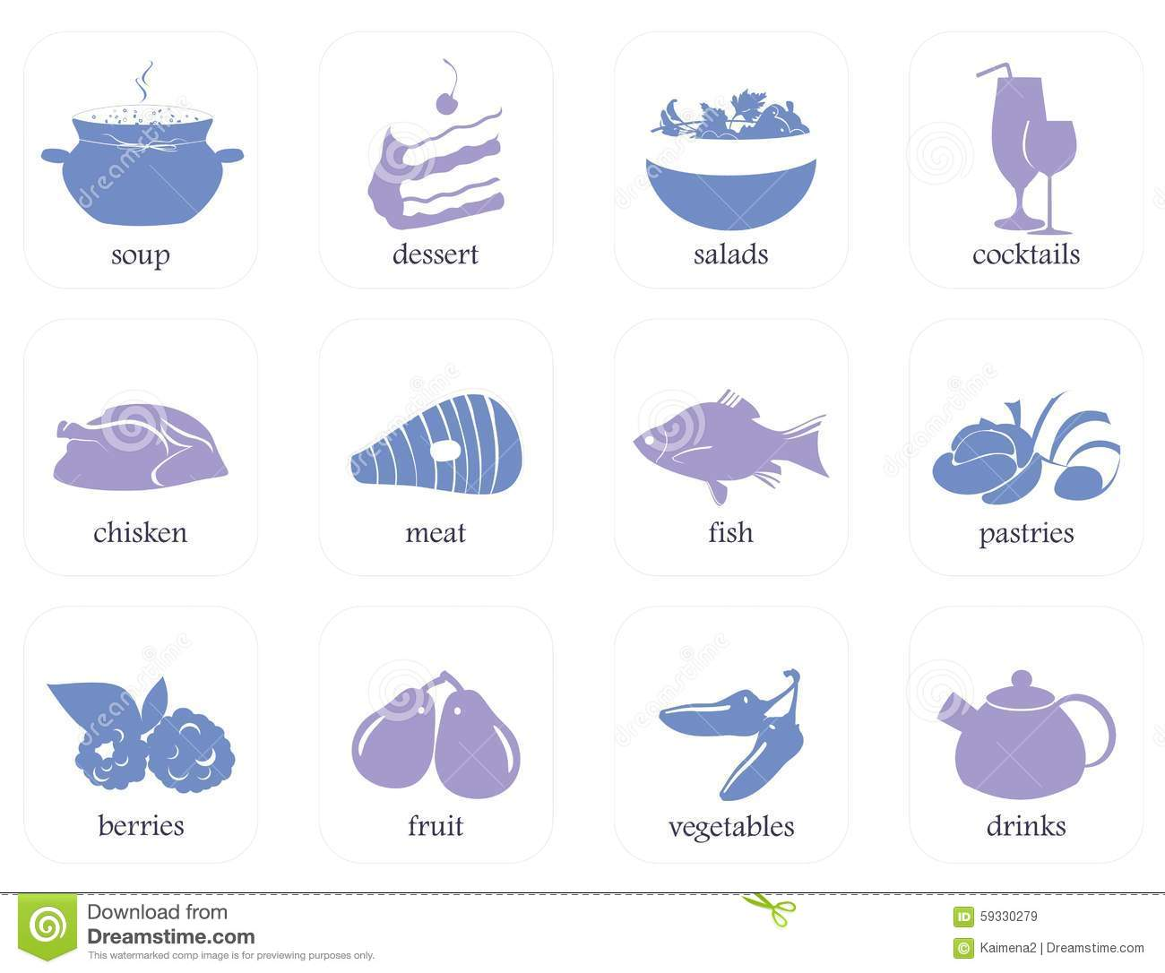 Book logos stock vector image 42714029 - Icons For Recipe Books Include Logos Desserts Salads Pastries