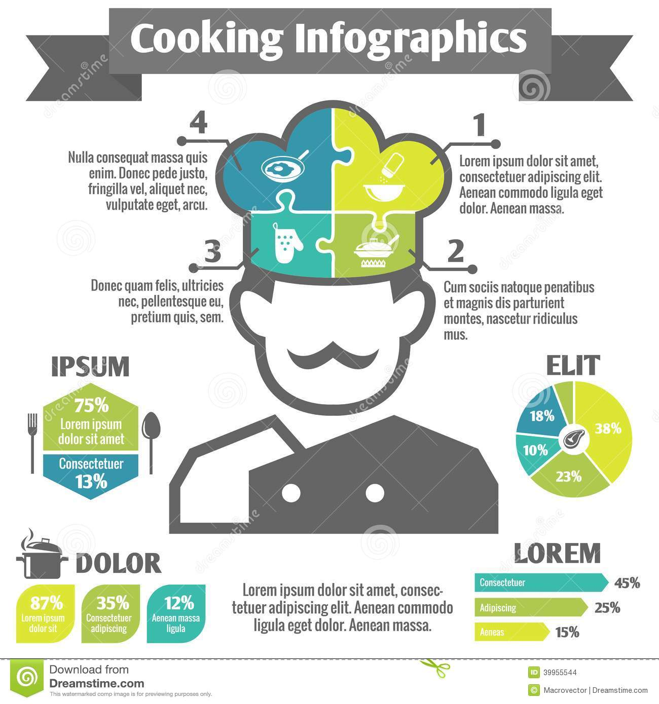 Cooking infographic icons stock vector image 39955544 - Many times can reuse frying oil ...