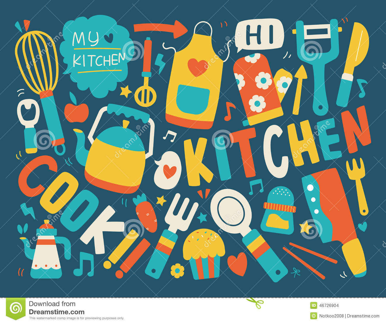Cooking And Kitchen Background Stock Vector