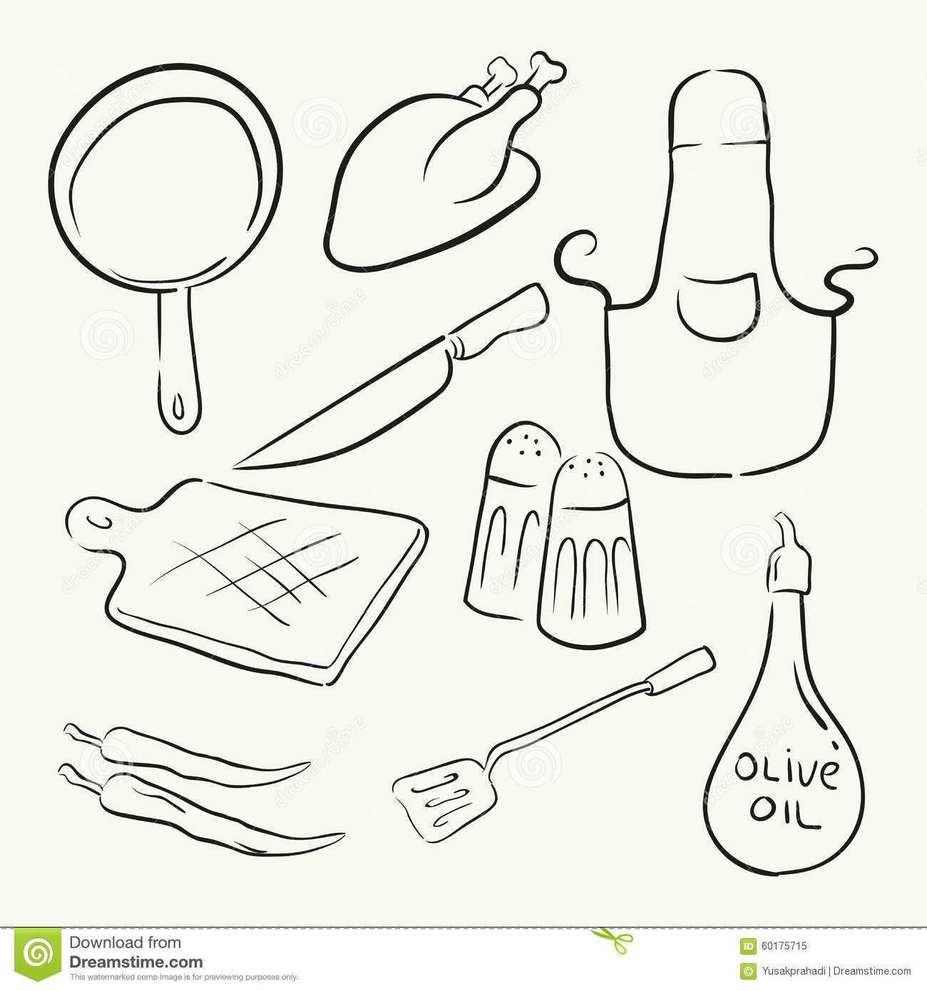 Cooking Kitchen Equipment Stock Vector