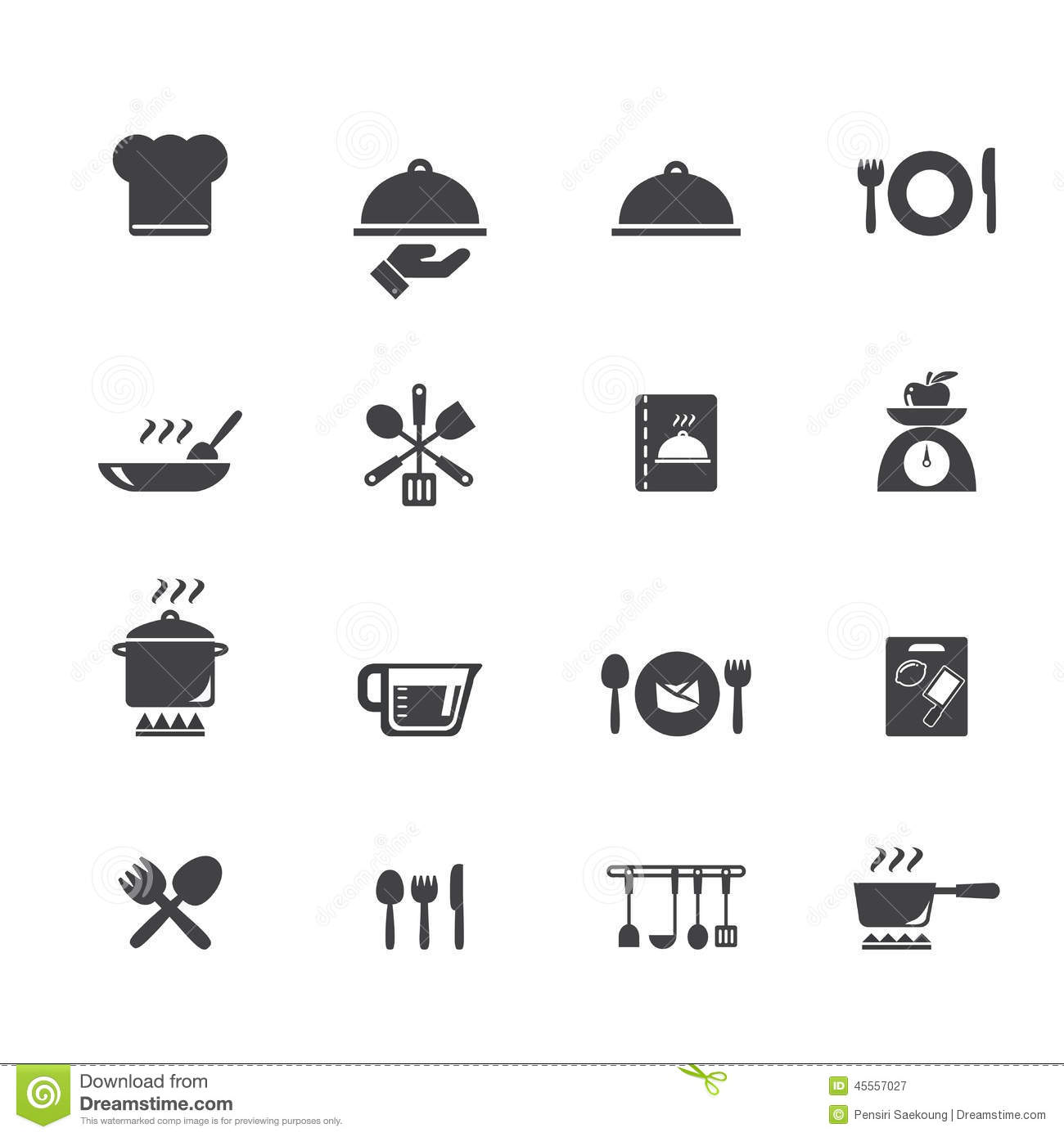 Etonnant Cooking And Kitchen Icons Stock Vector Illustration Of Food