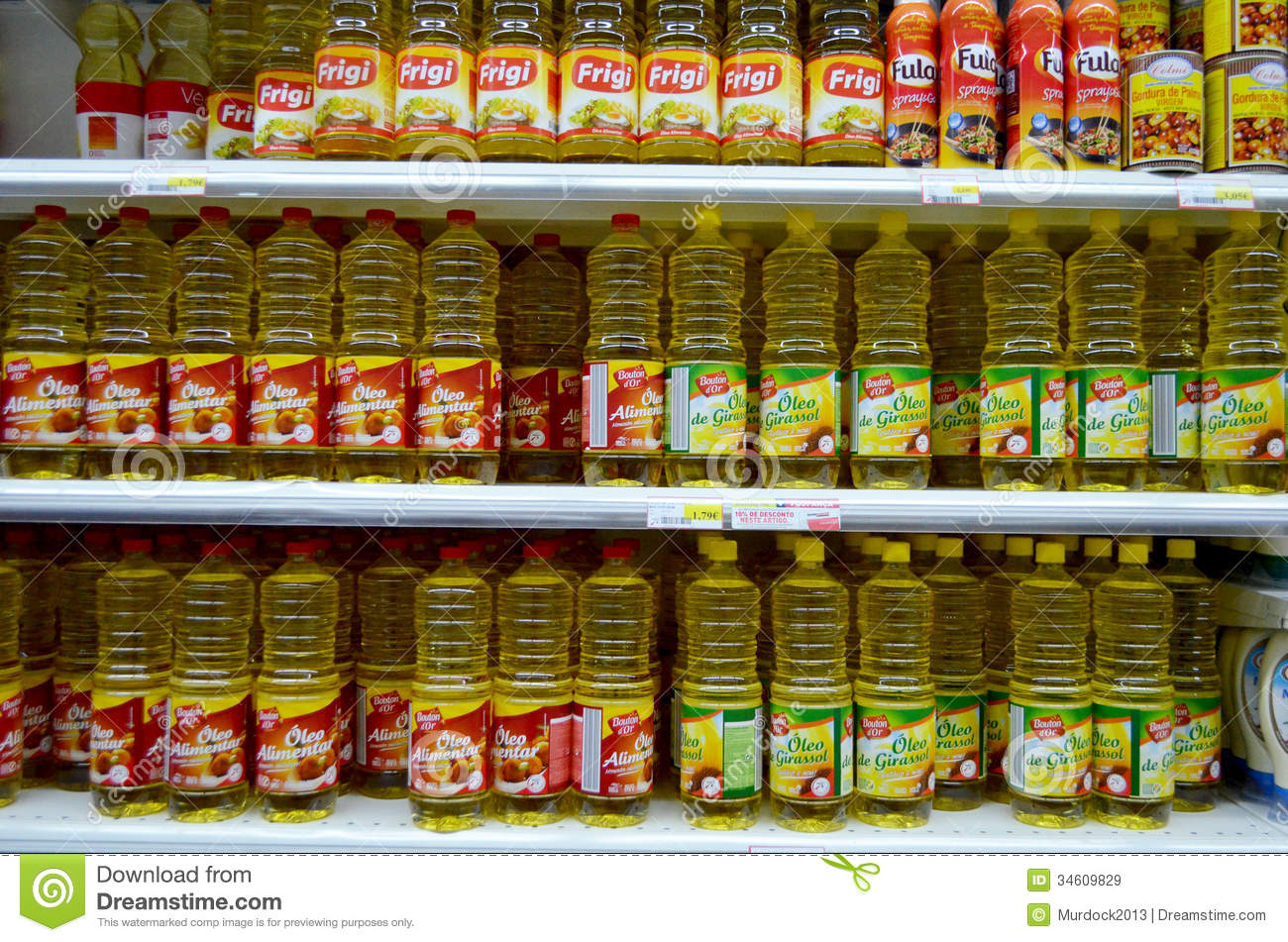 Cooking Oils Editorial Stock Image - Image: 34609829