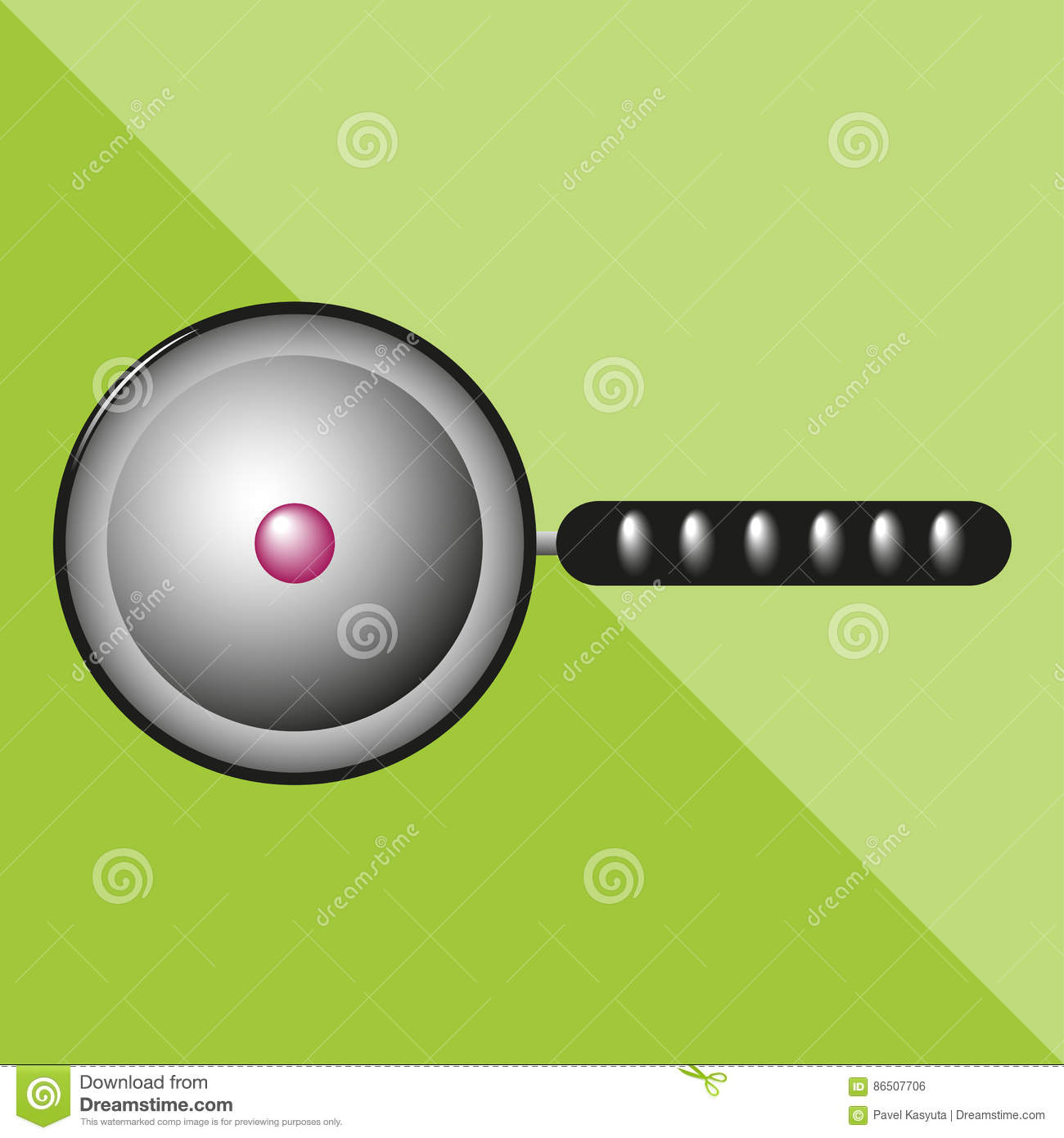Cooking Pan Kitchen Utensils And Equipment Icon Stock
