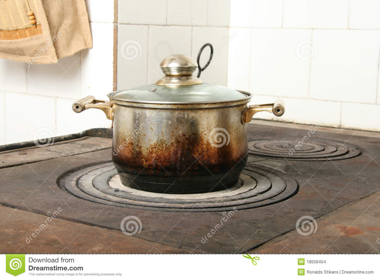 Cooking Dirty Kitchen Old Pot ...