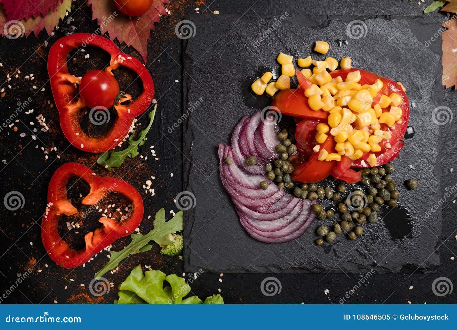 Cooking recipe vegan salad strict diet stock image image of download comp forumfinder Gallery