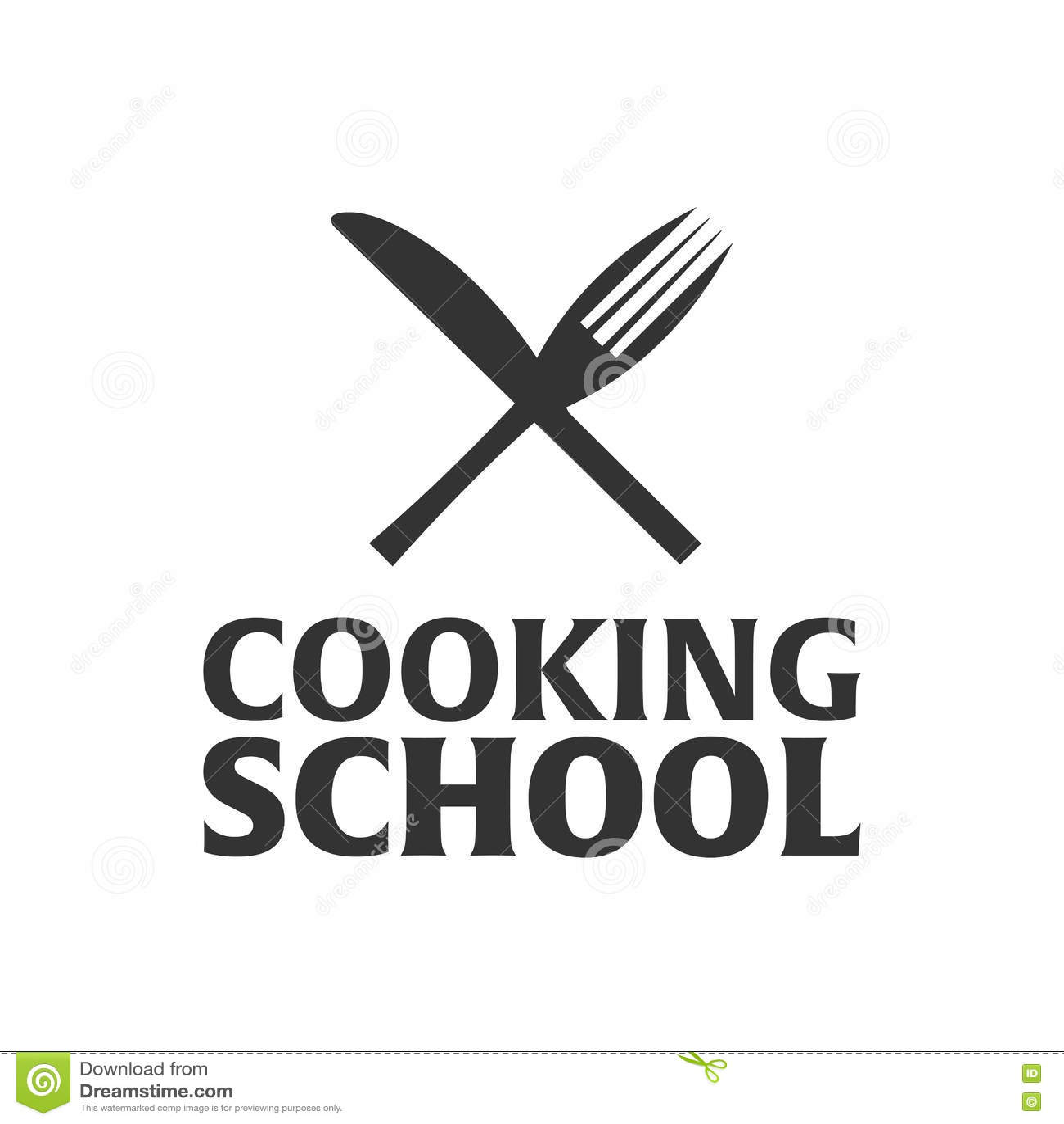 Cooking school logo. Cooking Academy. Vector illustration.