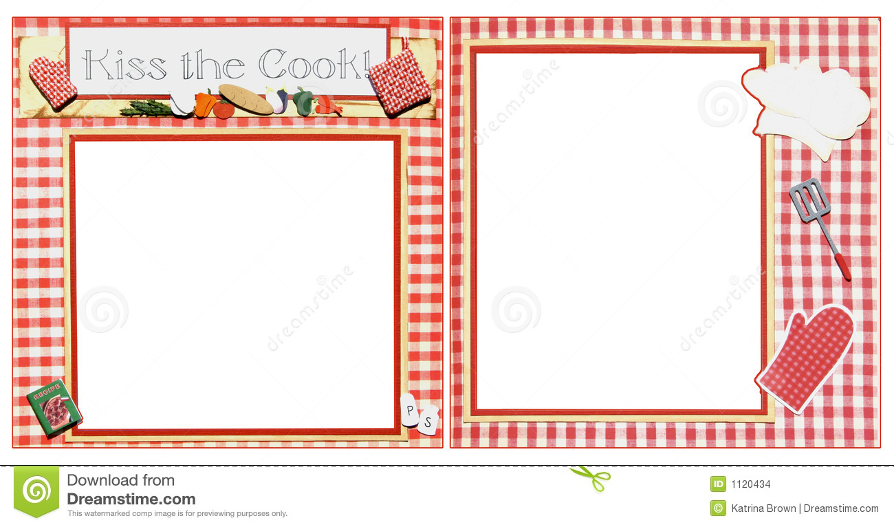 Cooking Scrapbook Frame Template Stock Images - Image: 1120434