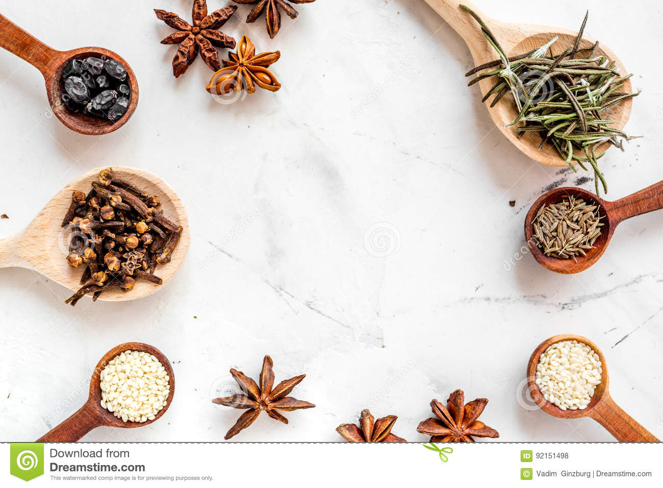 Kitchen table top view - Cooking With Spices Vanilla Cinnamon On Kitchen Table Background Top View Mock Up