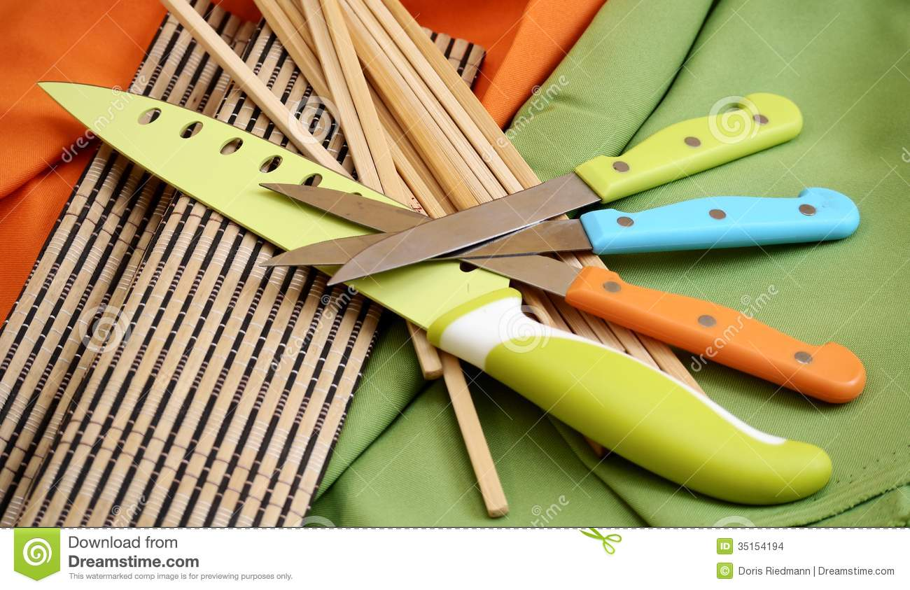 Cooking tools kitchen work chef stock images image 35154194 for Colorful kitchen tools