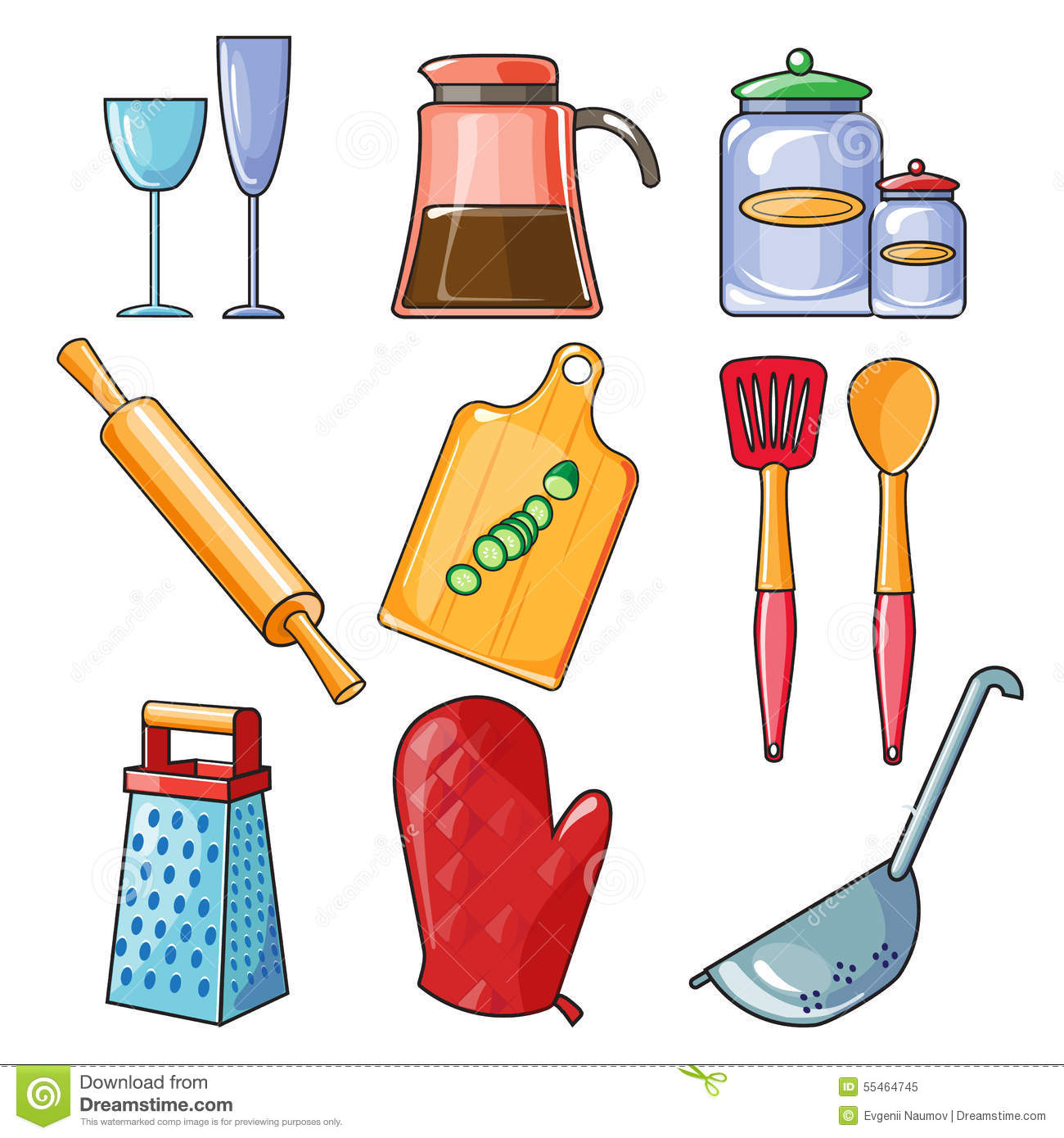 Kitchen Equipment Clip Art ~ Cooking tools and kitchenware equipment stock vector
