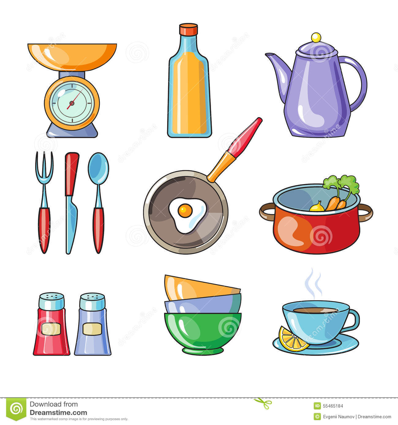 Cooking Tools And Kitchenware Equipment Stock Vector