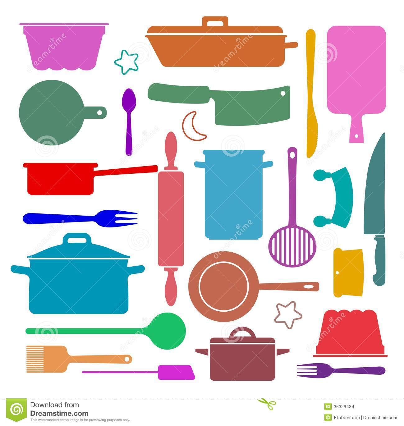 Kitchen Utensils Wallpaper cooking stock image - image: 36035511