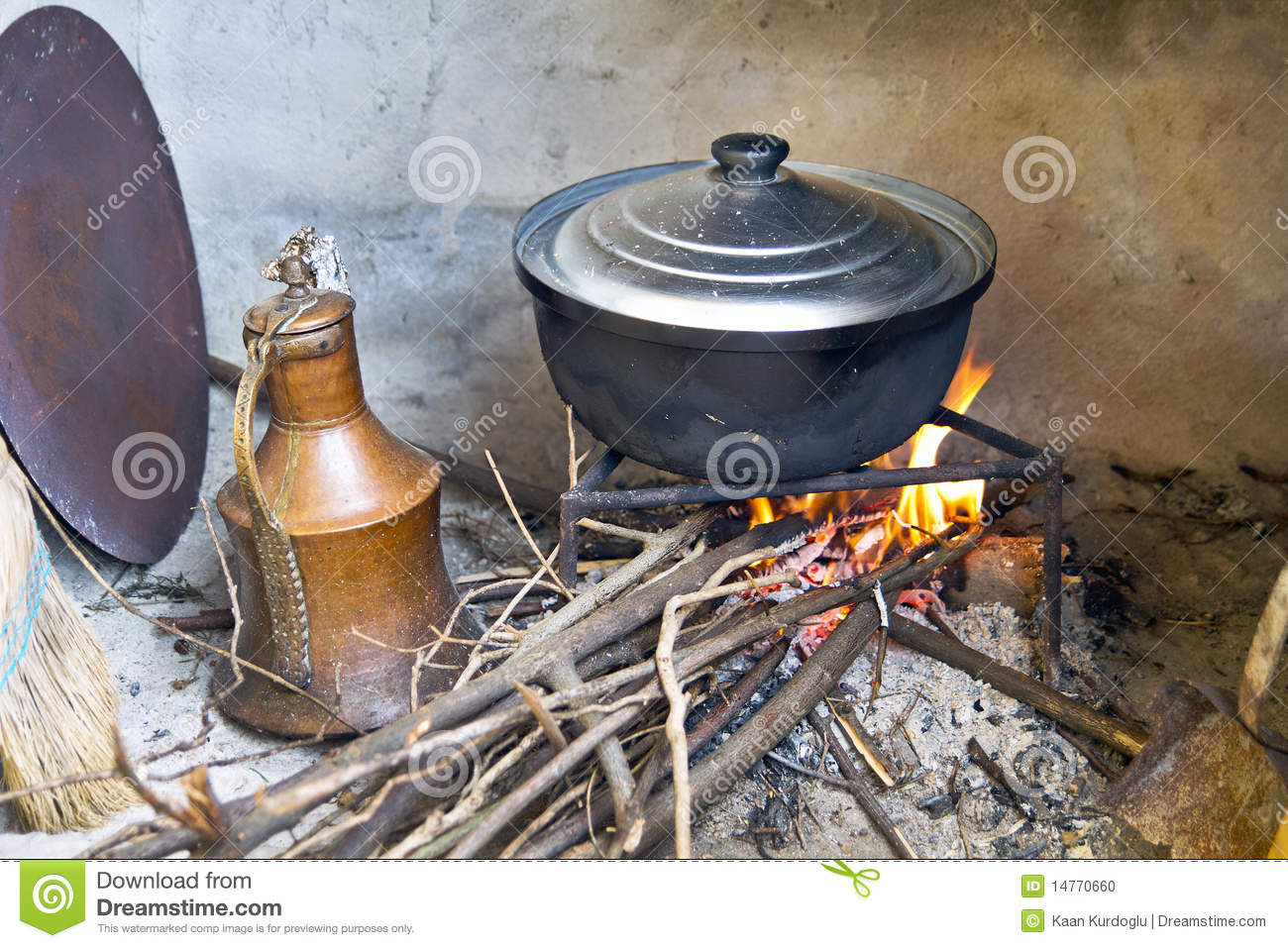 cooking on wood fire stock photo image of fire dirty
