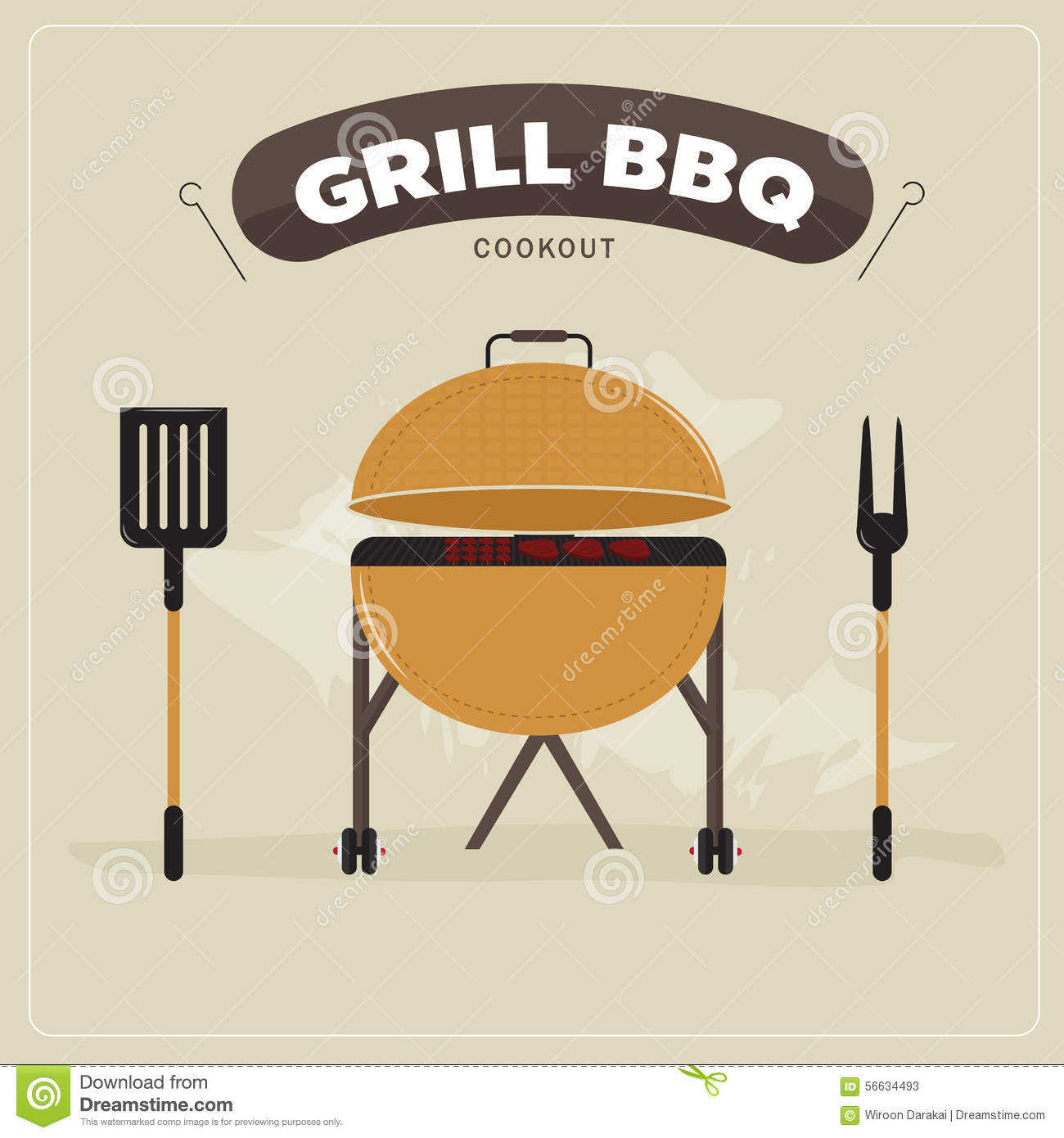 Cookout grill bbq stock illustration image 56634493 royalty free illustration pronofoot35fo Images